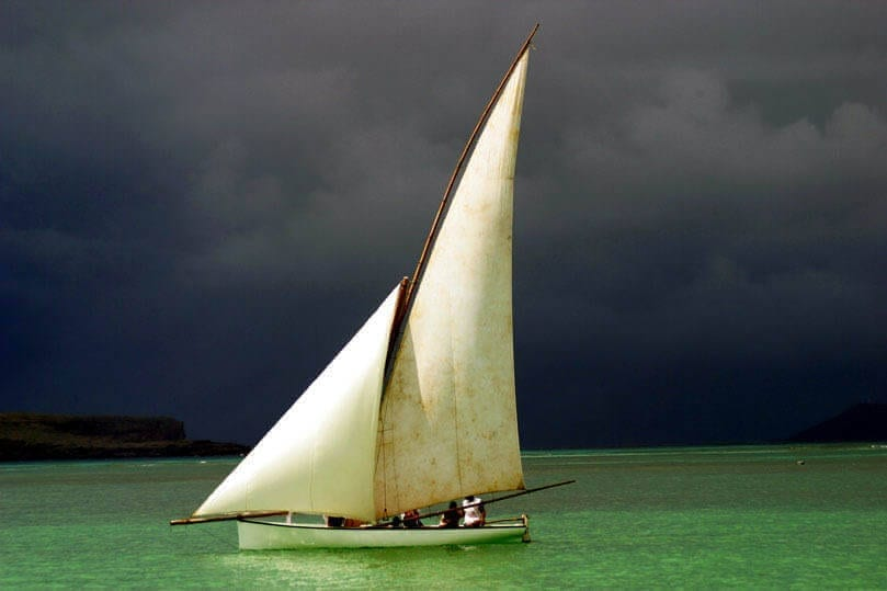 A sailing dhow in Maricus
