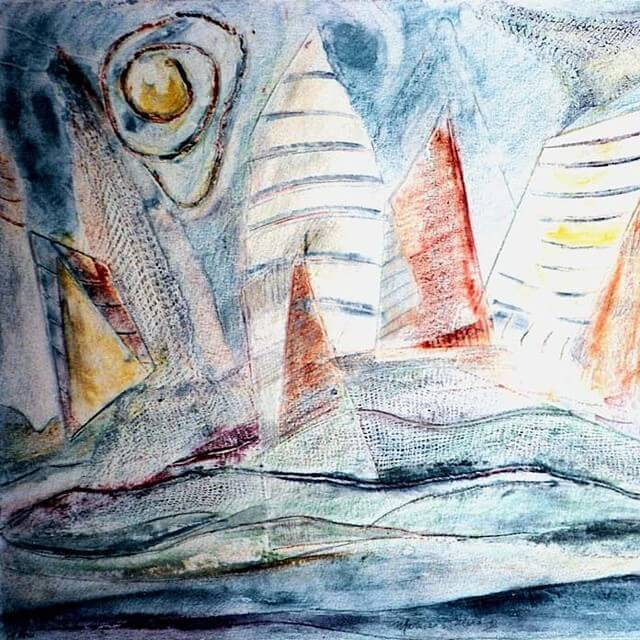 Original Painting of a Sailing Regatta