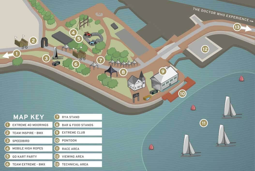 extreme sailing series – map