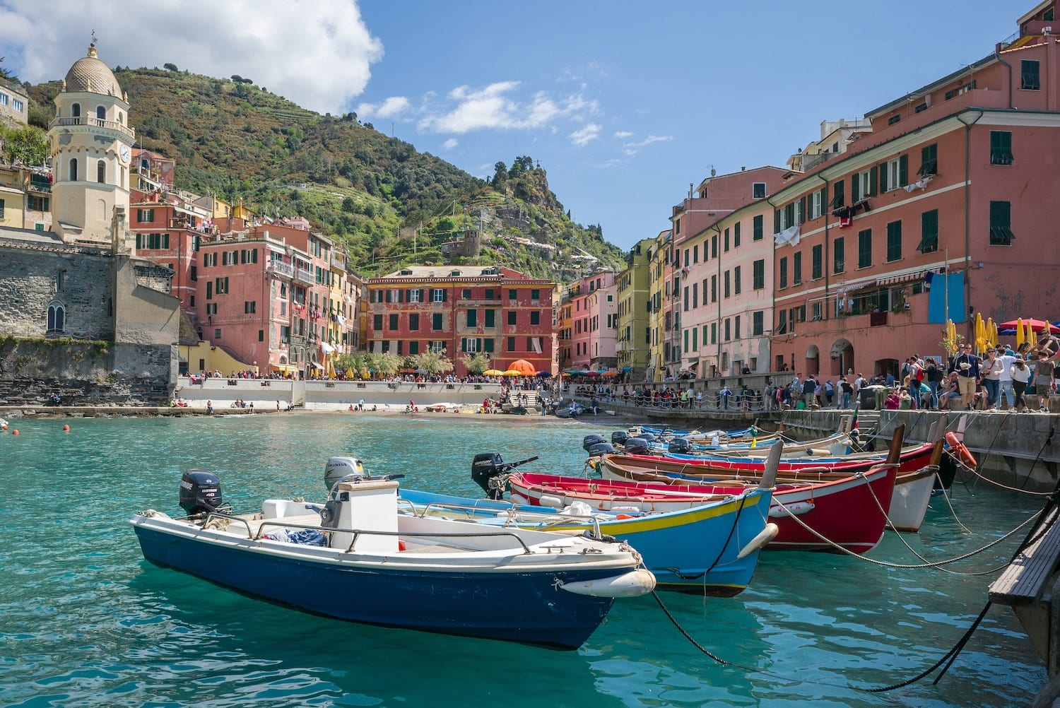view of cinque terre colourful houses view