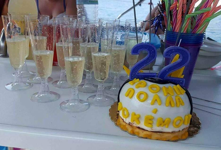 Bubbly and Birthday Cake