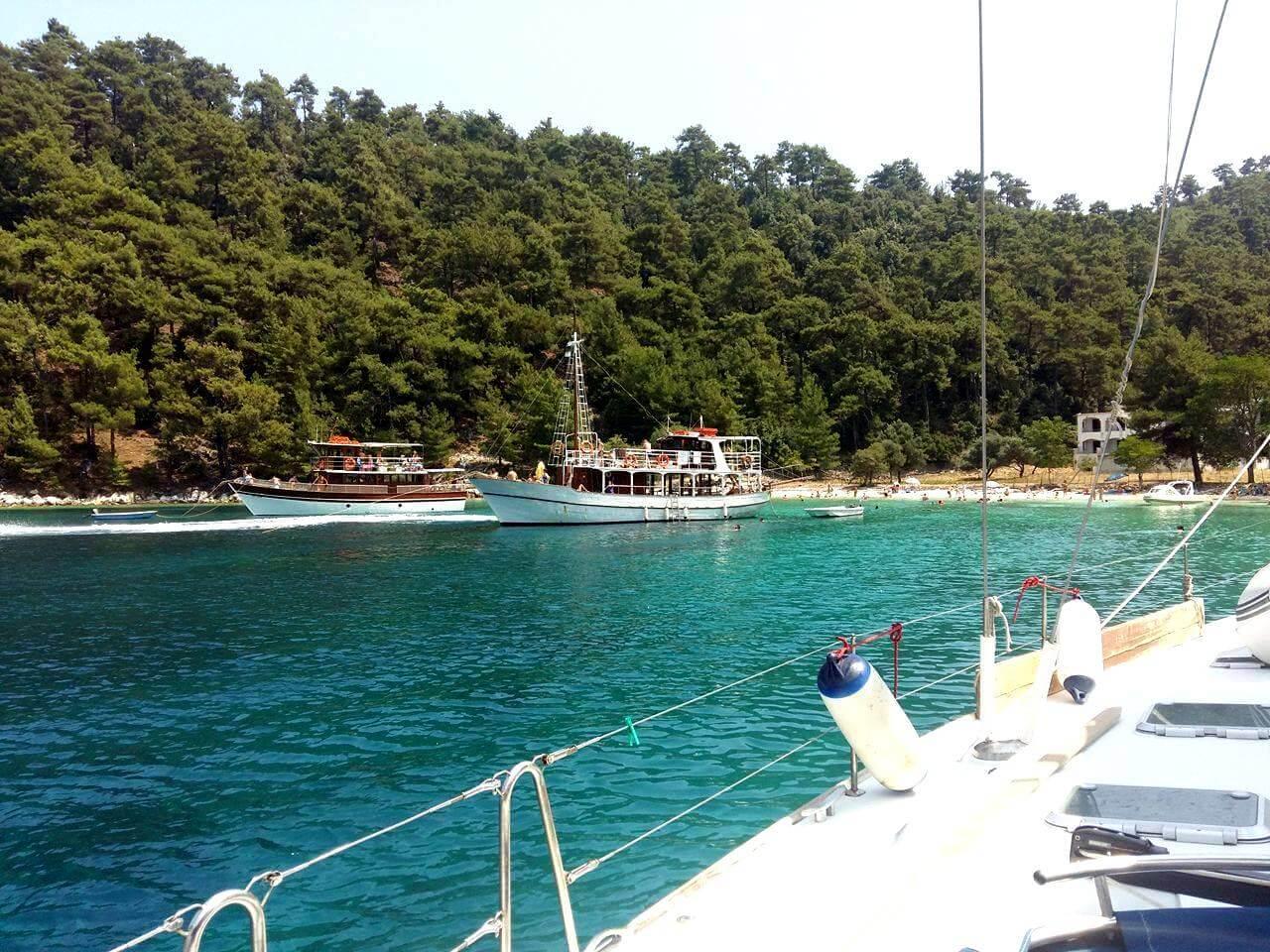 Vathi Beach in Thassos Island