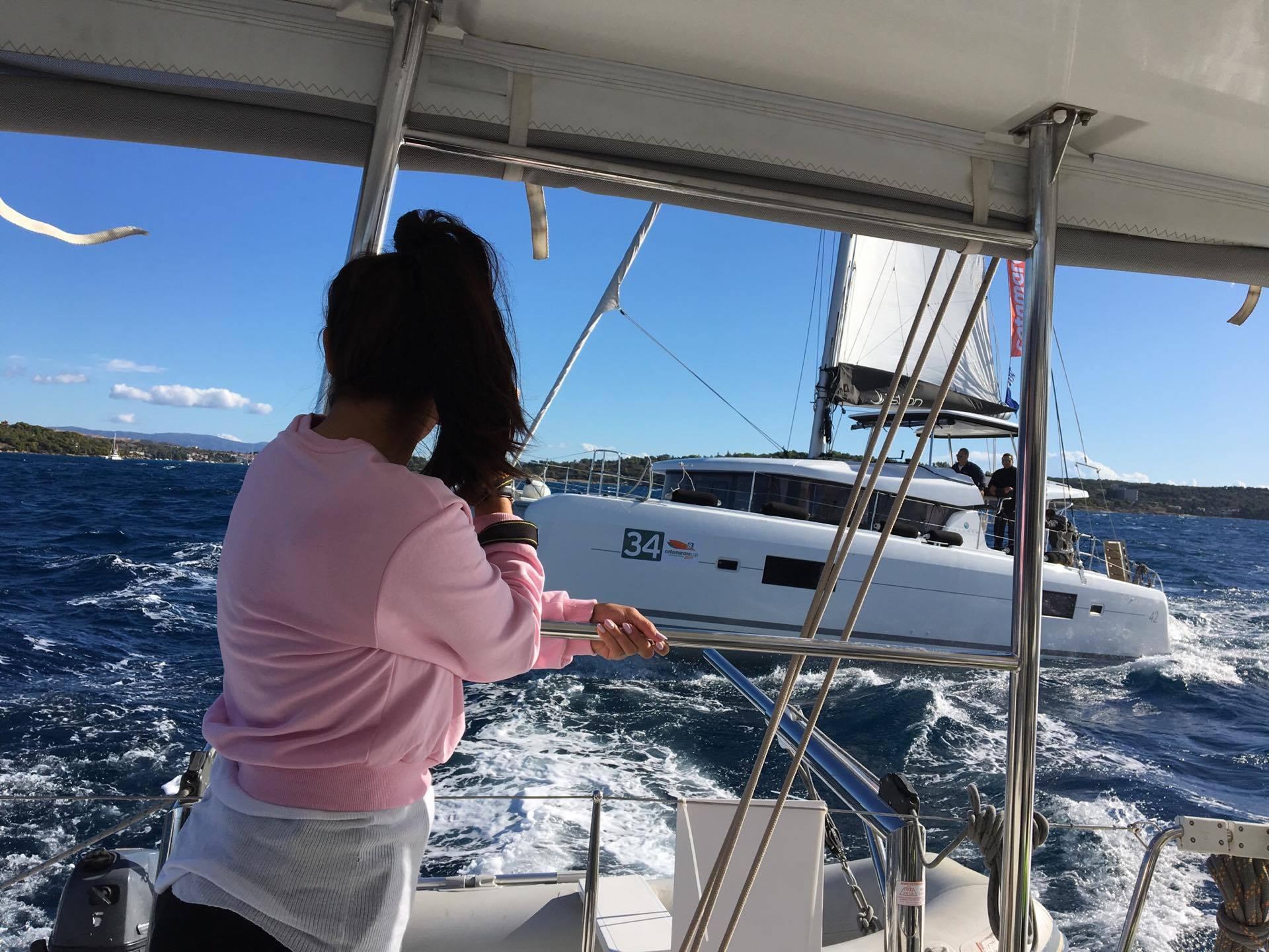 my first regatta – catamarans cup – sailing back
