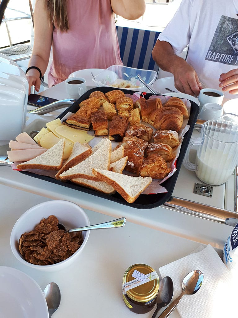 ionian sailing – day four – breakfast