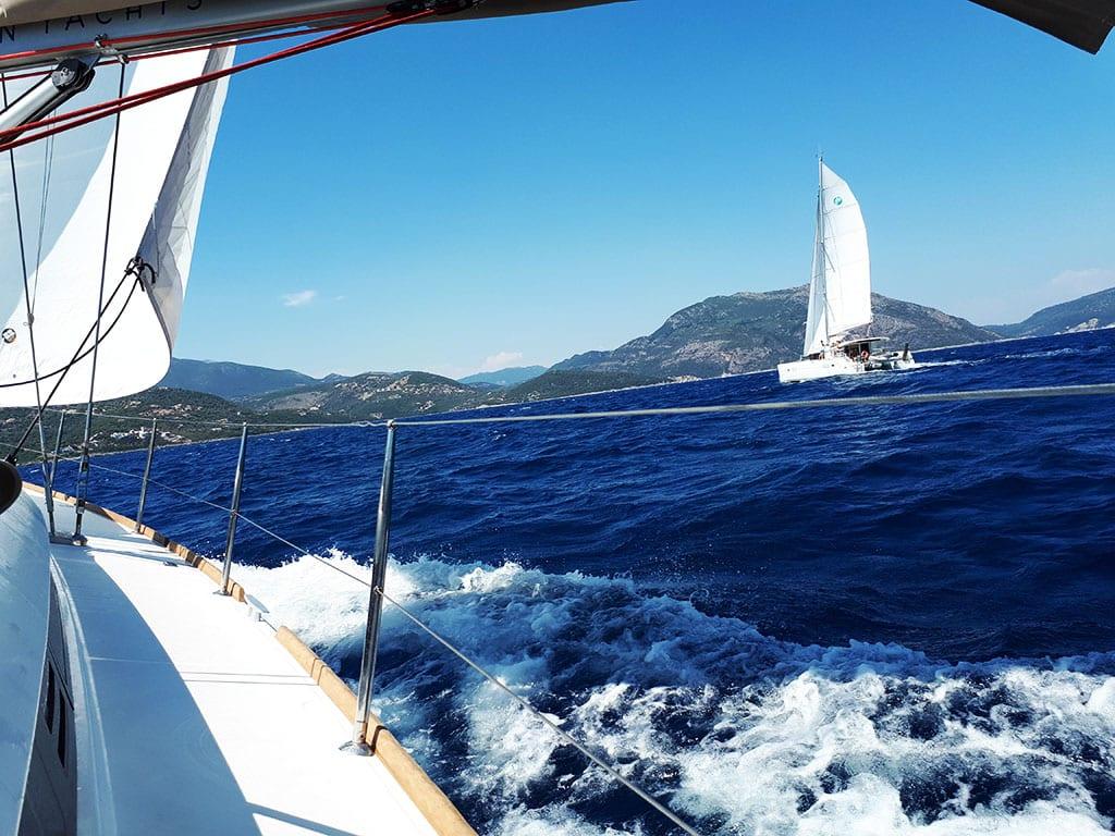 ionian sailing – day four – catamaran race