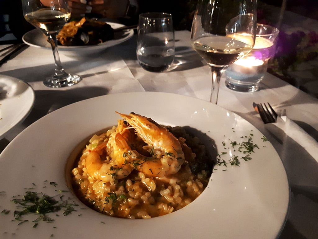 ionian sailing – day one – dinner