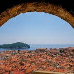 view through an arch of a Dubrovnik yacht charter
