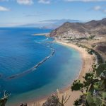 view of a beach in Tenerife on a Canary Islands yacht charter