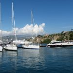 sailing boats in a harbour on a mediterranean yacht charter with skipper