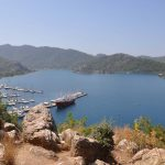 view of Marmaris on a bareboat charter in turkey