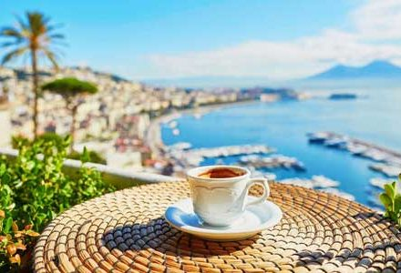 yacht charter Italy Naples coffee