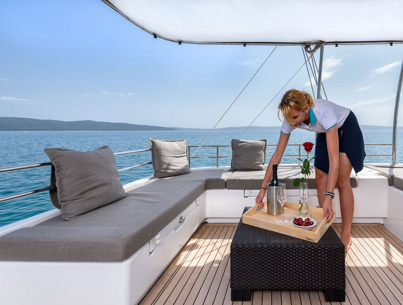 Hostess on a Crewed Yacht Charter