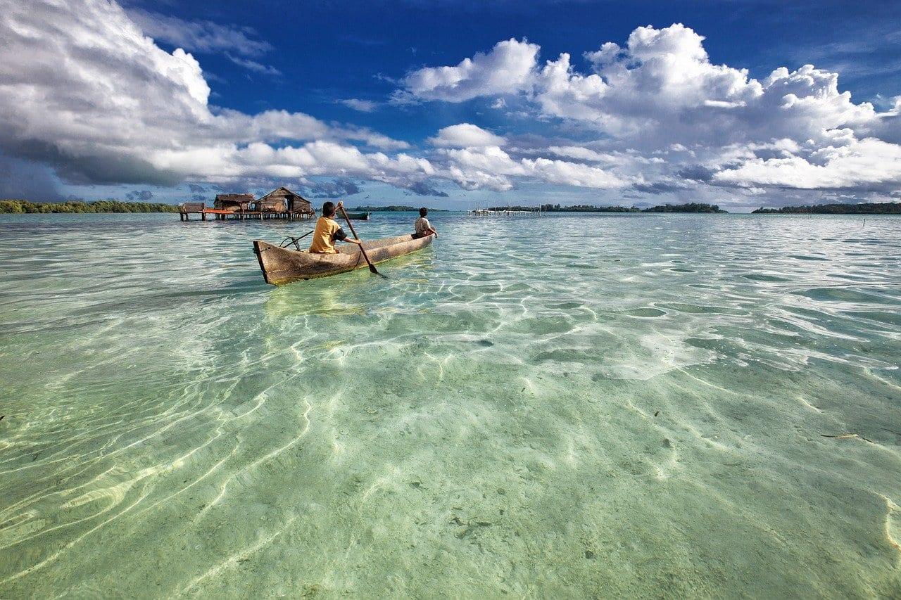 a canoe in the ocean social distancing activities