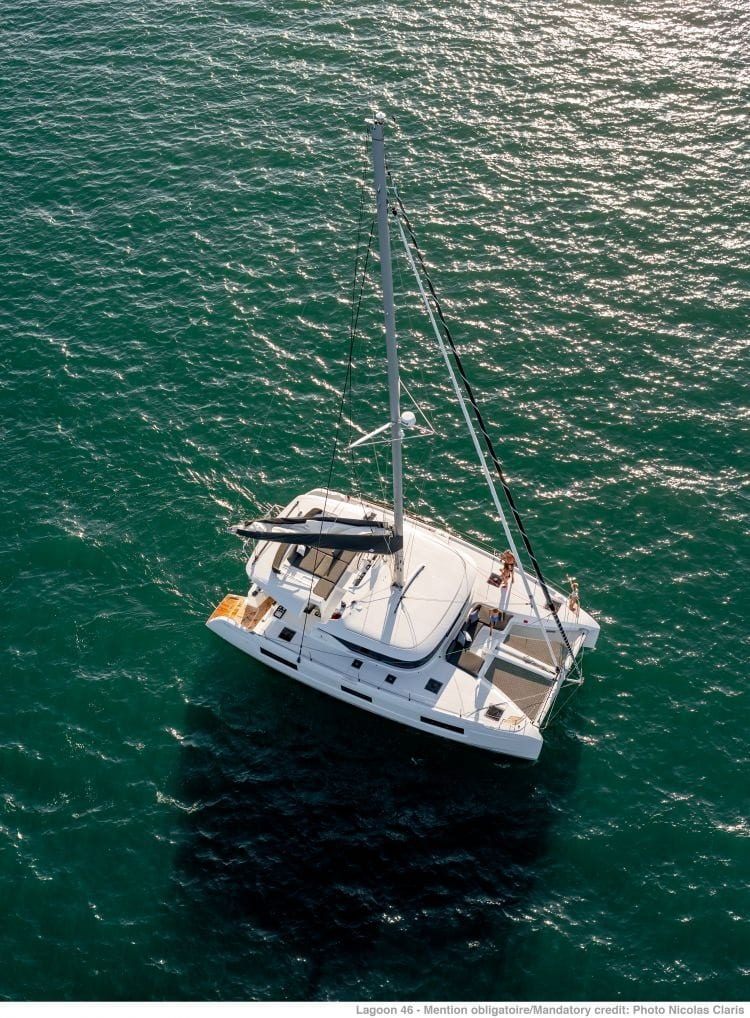 aerial view of a lagoon 46