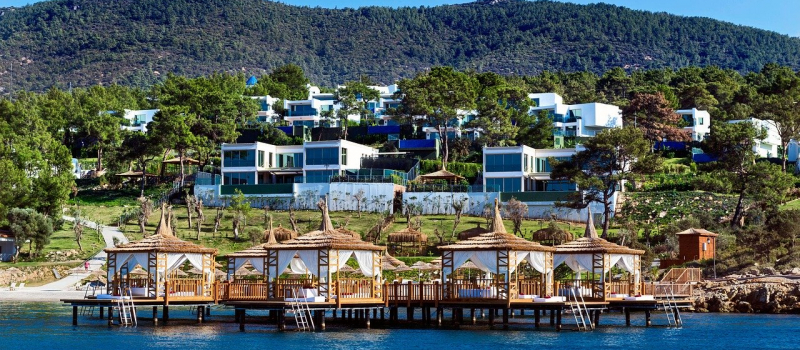houses on a hill on a bodrum sailing itinerary