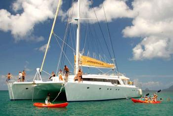 one way yacht charter caribbean 60' Bareboat Charter Cat