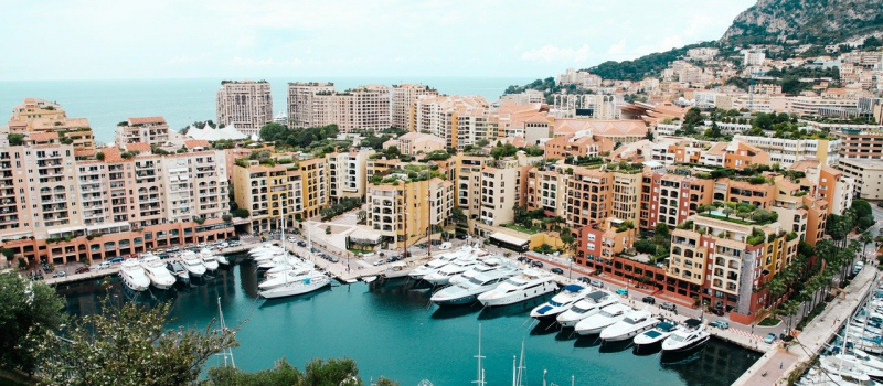 view of Monaco harbour on a French Riviera sailing itinerary