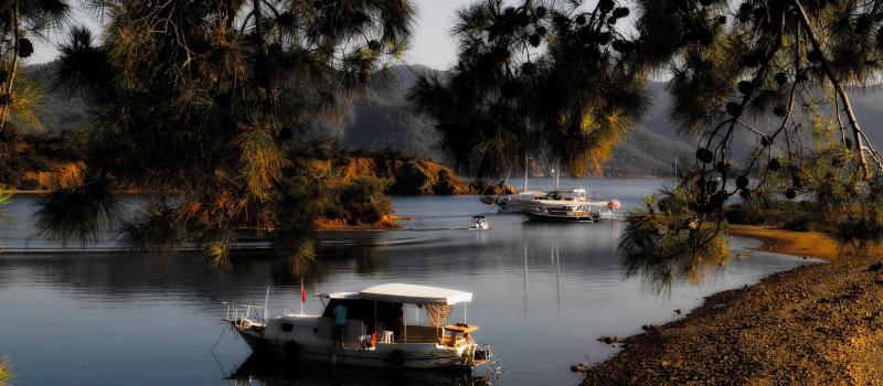 boats in turkey on a gocek sailing itinerary