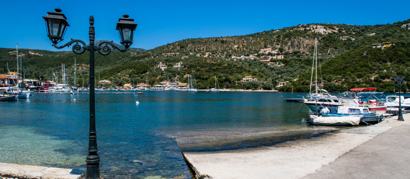 syvota in Greece view in a harbour on a south ionian sailing itinerary