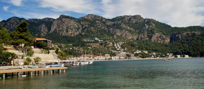 view of Marmaris on a western Lycian Marmaris sailing itinerary